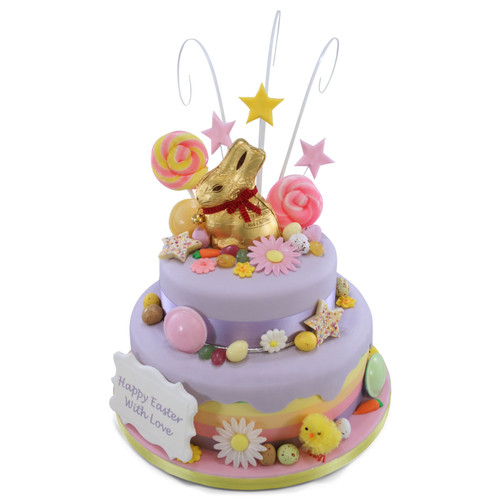 Chocolate Bunny Two~Tier Cake