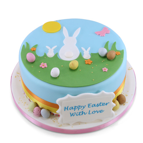 Bunnies View Easter Cake