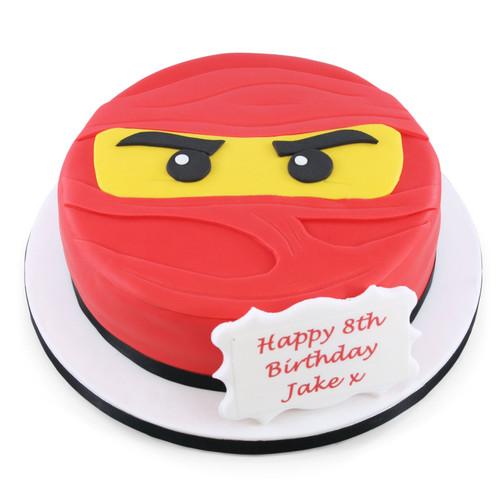 Ninja Face Cake