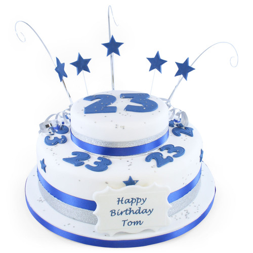 Blue Number Two~Tier Cake