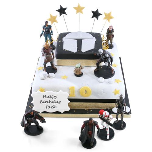 Star Wars Mandalorian Two~Tier Cake