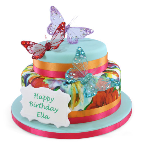 Butterfly Two~Tier Cake