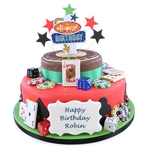 Las Vegas Two~Tier Cake