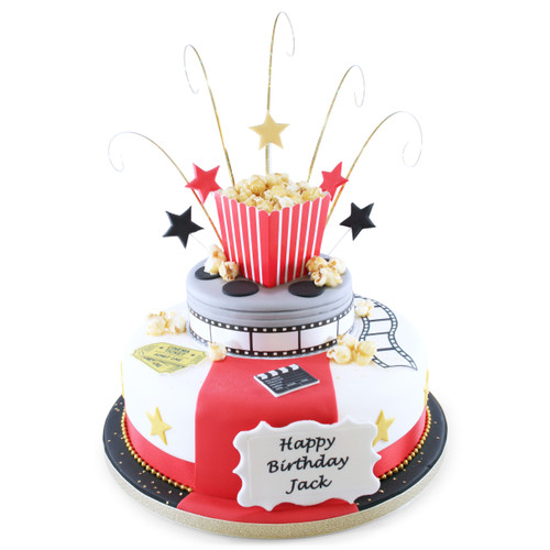 Movie Time Two~Tier Cake