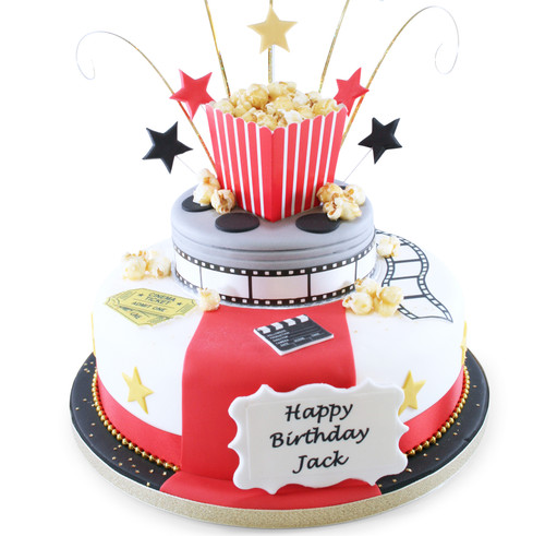 Movie Time Two~Tier Cake