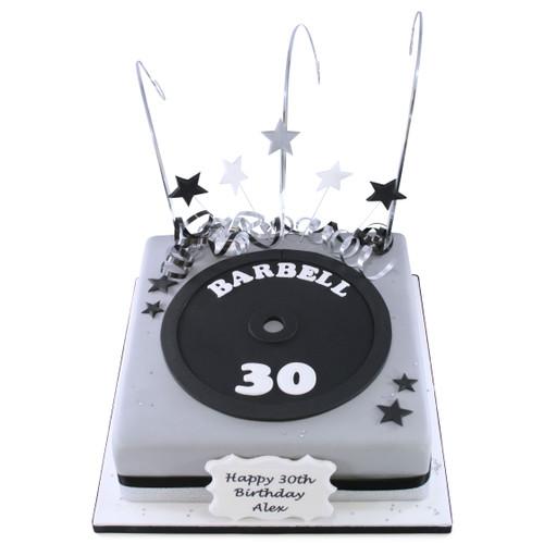 Barbell Cake