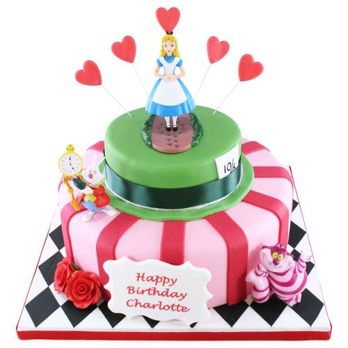 Alice In Wonderland Two~Tier Cake