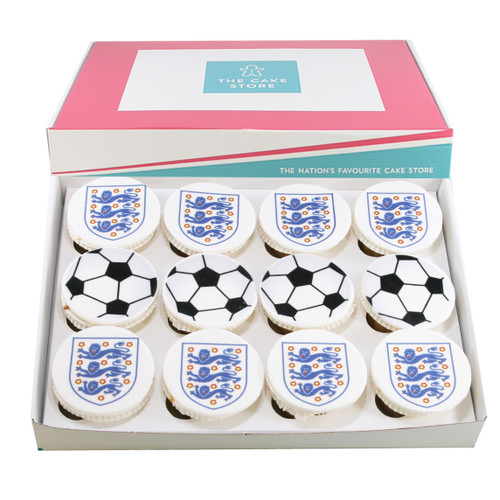 England Euro 2020 Football Cupcakes