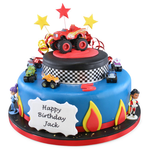 Blaze & Monster Machines Two~Tier Cake