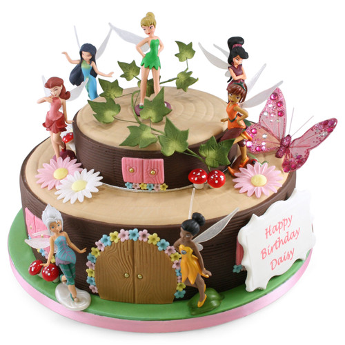 Tinkerbell Fairy House Two~Tier Cake