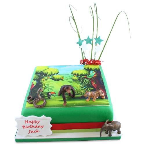 Jungle Scene Birthday Cake