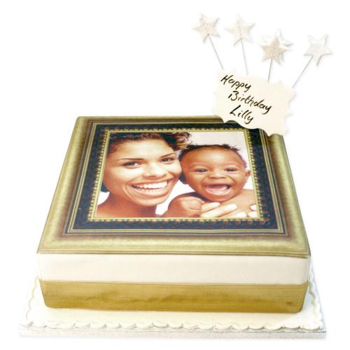 Gold Photo Frame Cake