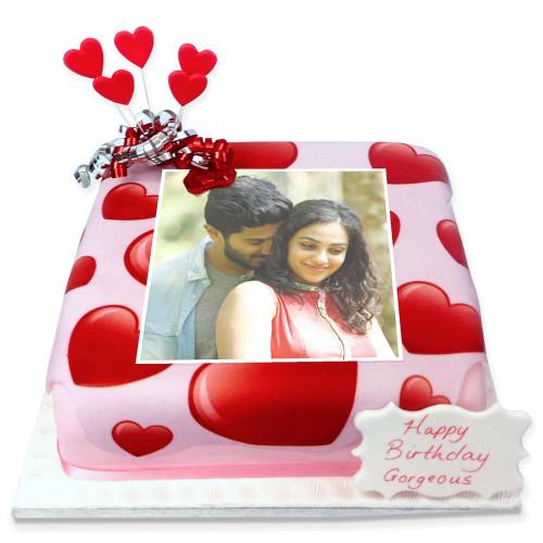I Love You Photo Cake