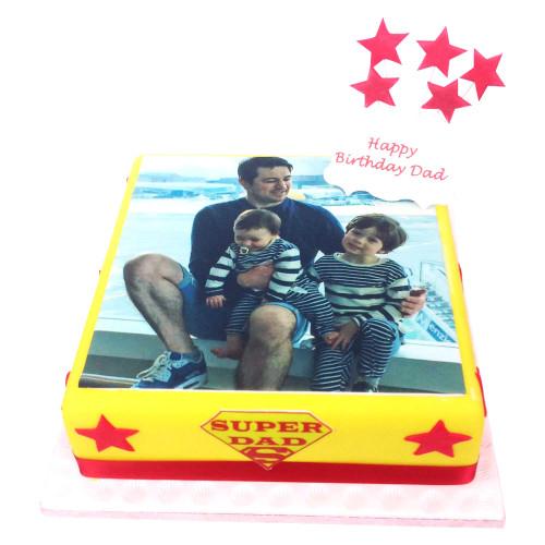 Super Dad Photo Cake