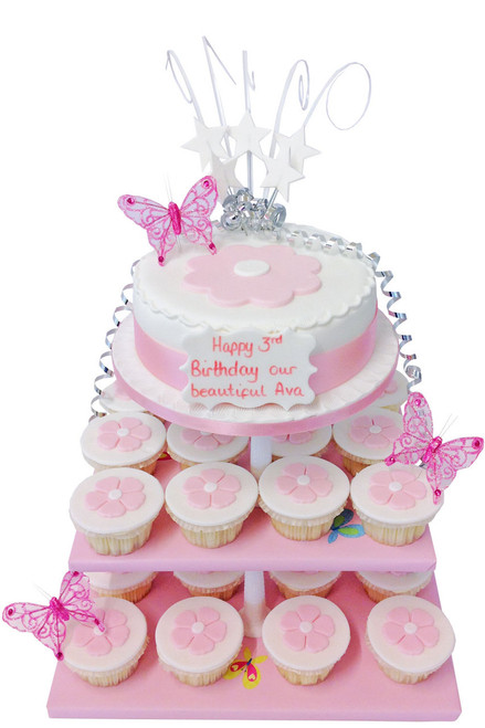 Pink Daisies Cake Tower