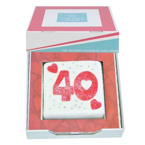 Number Hearts Gift Cake