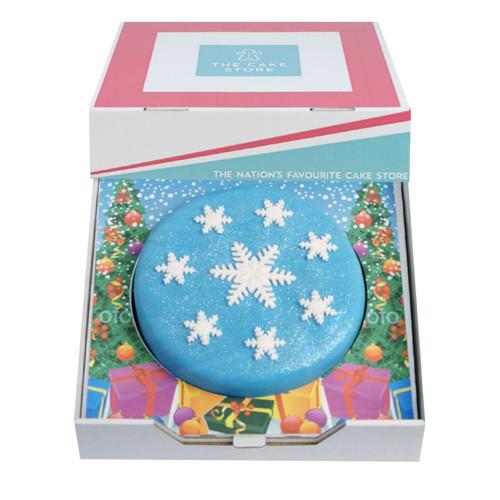 Snowy Christmas Gift Cake