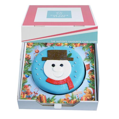 Snowman Christmas Gift Cake