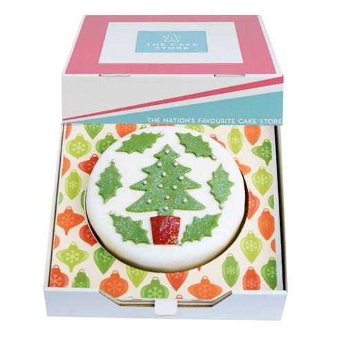 Christmas Tree Gift Cake