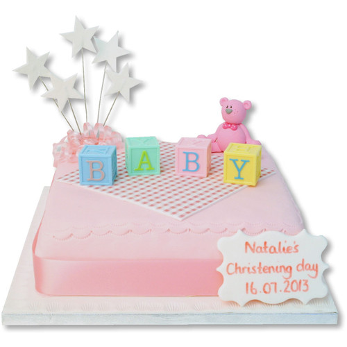 Letter Blocks Baby Cake (Pink)
