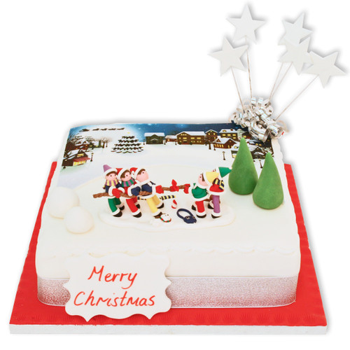 Christmas Snow Play Cake