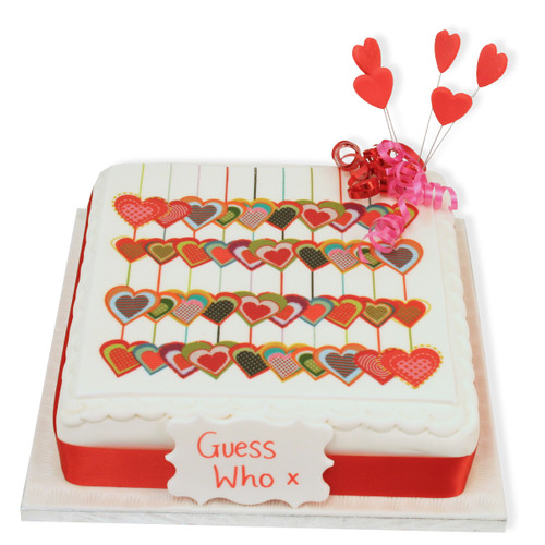 Love Heart Collage Cake