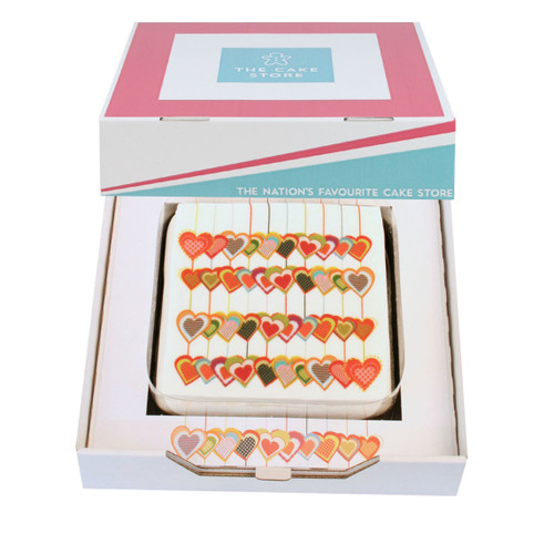 Love Heart Collage Gift Cake