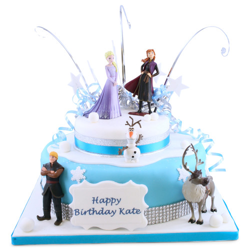 Frozen Birthday Two~Tier Cake