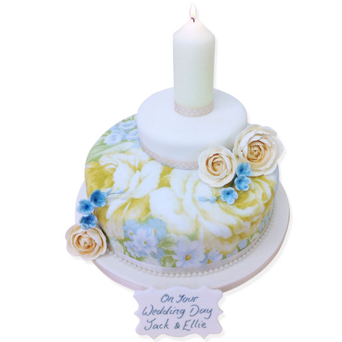 Forget Me Not Two~Tier Cake