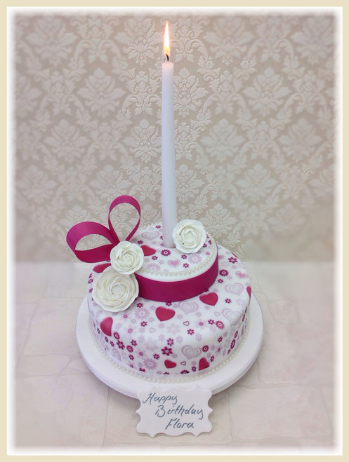 Hearts and Flowers Luxury Cake