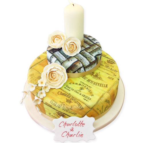 Wine Lovers Two~Tier Cake