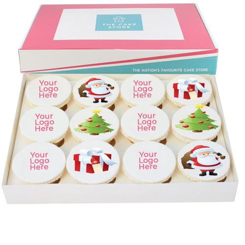 Christmas Logo Cupcakes