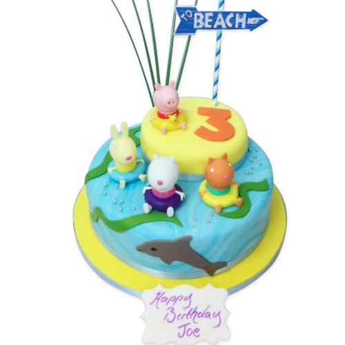 Peppa pig at The Seaside Cake