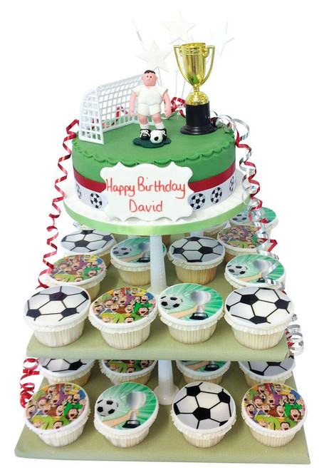 Football Cake Tower