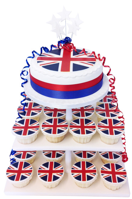 Union Jack Cake Tower