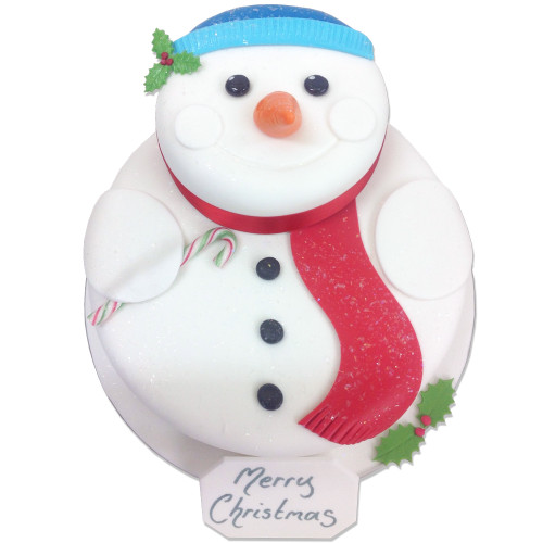 Frosty Snowman Two~Tier Cake