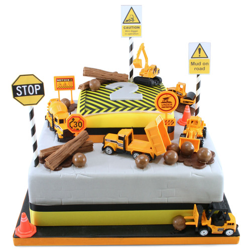 Digger Birthday Two~Tier Cake