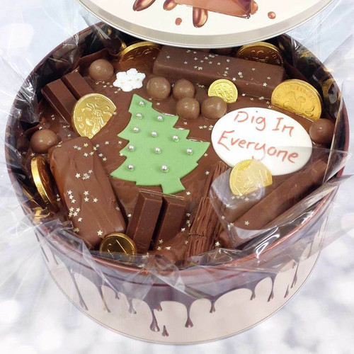 Christmas Tree Cake In-A-Tin