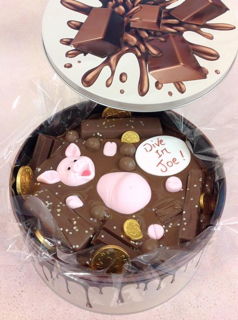 Chocolate Bath Cake In-a-Tin