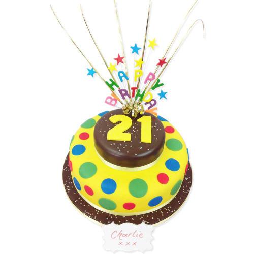 Birthday Star Burst Two~Tier Cake