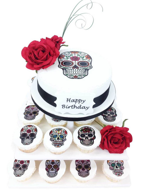 Day of The Dead Cake Tower