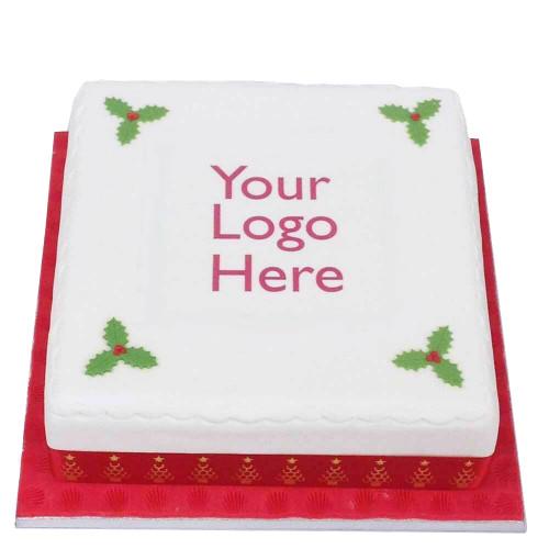 Square Logo Christmas Cakes