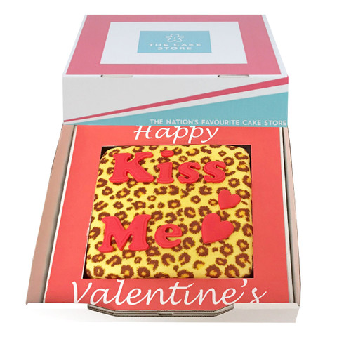 Leopard Print Valentines Gift Cake