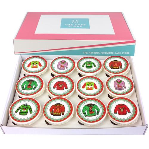 Christmas Jumper Cupcakes