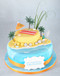 Beach Life Two~Tier Cake
