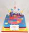 Superman Number Cake