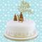 Golden Sparkle Christmas Cake