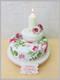 Rambling Rose  Two~Tier Cake