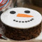 Snowman Christmas Fruit Cake