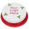 Round Logo Christmas Cakes